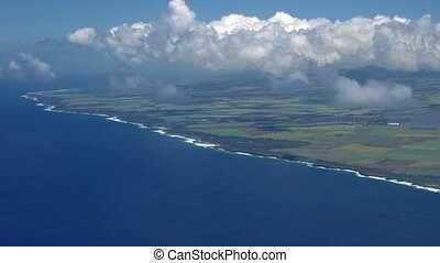 Flight above coastline, Ile De La Reunion - 1080p, Flight...