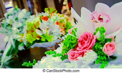 Wedding bouquets - Three frame. Wedding bouquets.