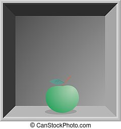 Apple and frame - Creative design of Apple and frame