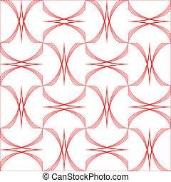 geometric arcs pattern isolated on white background