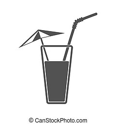Vector illustration of alcohol drink icon. Cold summer...