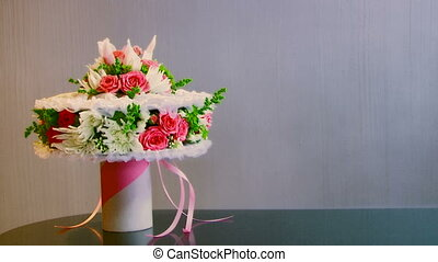 Bouquet - In a frame a wedding bouquet.