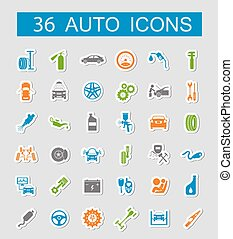 Set of car service icons