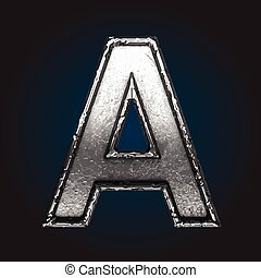 a vector metal letter