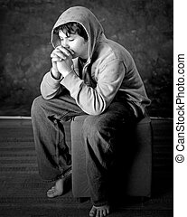 praying - A boy Praying