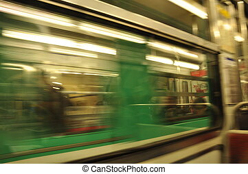 Swoosh! Subway Trains Passing - Riding the Metro in Paris,...