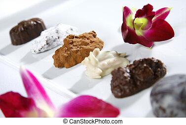 Assortment of truffles - Assortment of home-made truffles...