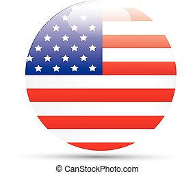 Vector - United States Flag Glossy icon