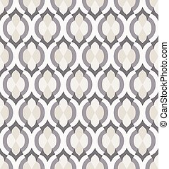 Vector seamless pattern in moroccan style.