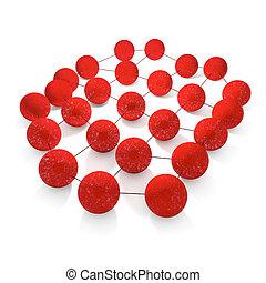Network - 3d rendered illustration