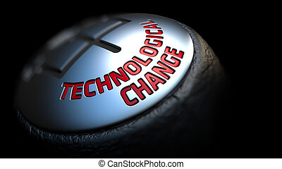 Technological Change on Black Gear Shifter. - Technological...