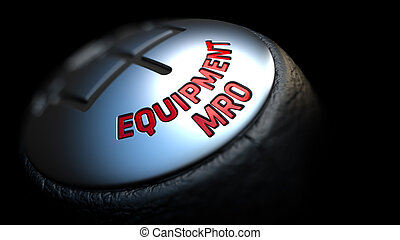 Equipment MRO on Black Gear Shifter. - Equipment MRO - Red...