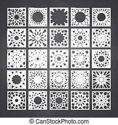 Square Ornament Set - Arabic square ornament set. Vector...