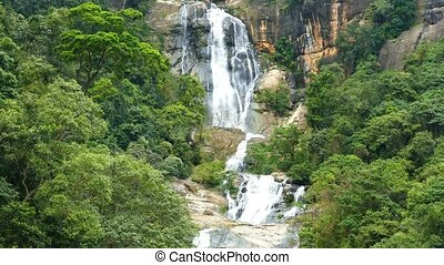 Waterfall Ella in Sri Lanka