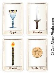 Tarot Pentacles Swords Wands Cups