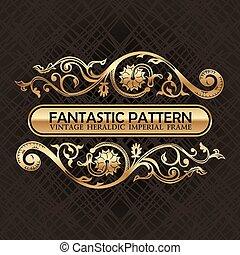 Vintage floral decor ornament pattern