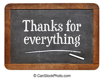 Thanks for everything on blackboard - Thanks for everything...