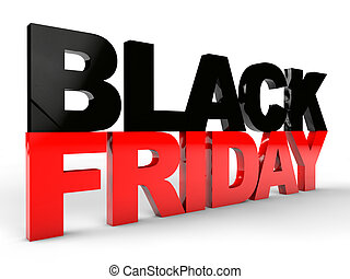 Black Friday over white background