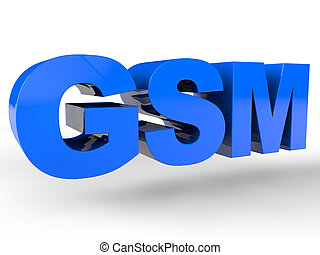 GSM sign over white Background
