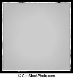 Torn Edges Frame - A square photo frame with torn and ripped...