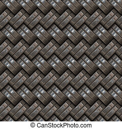 Metallic Weave - A gray metal texture that tiles seamlessly...