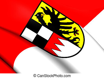 Flag of Middle Franconia, Germany Close Up