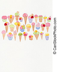 ice cream doodle drawing