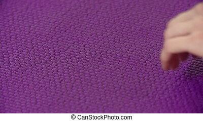 Yoga Mat Texture - Extreme close up of yoga mat texture and...