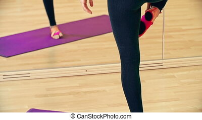 Tree Pose - Tilt up the yogi balancing in tree pose