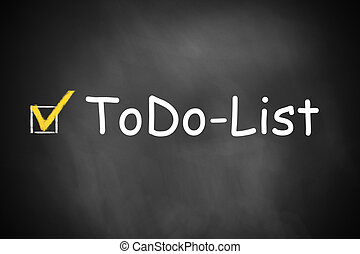 black chalkboard todo list checkbox checked - dark black...