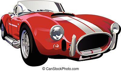 Classic Car2_vector  illustration