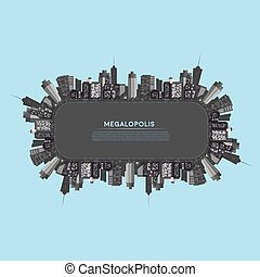 Vector Banner modern city Cityscape background for your...