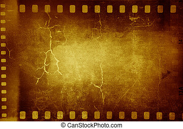 Film frames - Film negative frames on grunge background