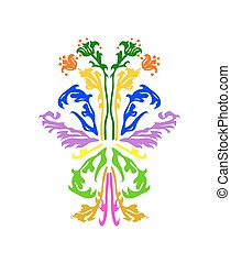 Abstract floral pattern