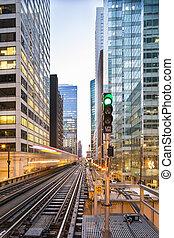 Famous Chicago train arrives.