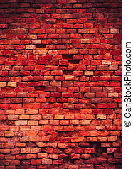 Macabre red brick wall texture background