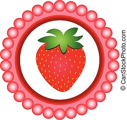 Strawberry round label