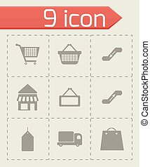 Vector shop icons set