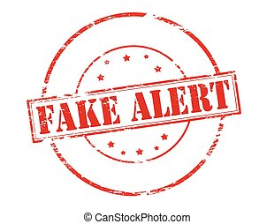 Fake alert - Rubber stamp with text fake alert inside,...