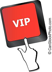 VIP written button keys on computer keyboard vector
