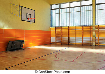school gym - elementary school gym indoor