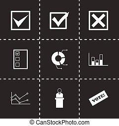 Vector black election icon set