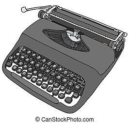 Typewriter - Hand drawing of an old portable typewriter