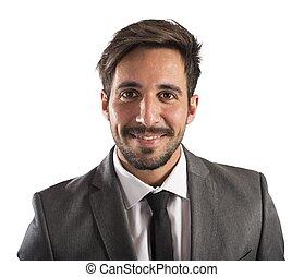 Confident businessman - Portrait of a businessman smiling...