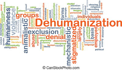 Dehumanization background concept - Background concept...