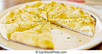 garlic pita bread in slices