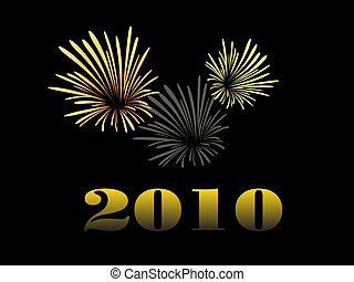 happy new year - vector illustration of a silvester...