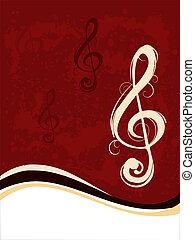 musik, nota