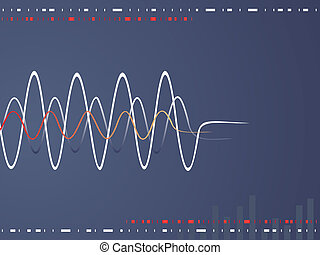 sound waves - vector illustration of abstract waves on a...
