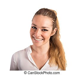 Smiling and solar girl - Portrait of a smiling and solar...